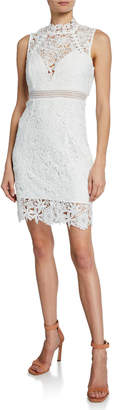 Bardot Paris Floral Lace Bodycon Cocktail Dress
