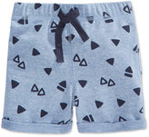 First Impressions Triangle-Print Pull-On Shorts, Baby Boys (0-24 months), Only at Macy's