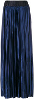 Maison Margiela gathered satin maxi skirt