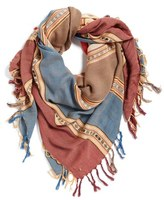 BP Women's Stripe Fringe Square Scarf