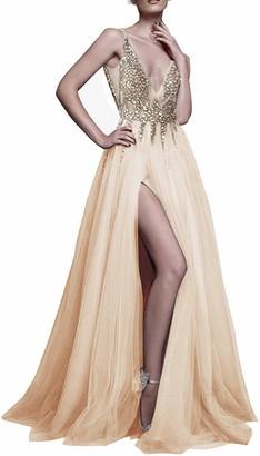 VERNASSA Women Sexy Long Evening Gown Ball Prom Dress