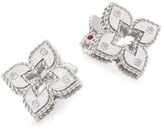 Roberto Coin Petite Venetian 18K White Gold & Diamond Stud Earrings