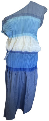 Issey Miyake Blue Polyester Dresses