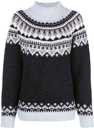 Autumn Cashmere relaxed-fit fair isle knit jumper