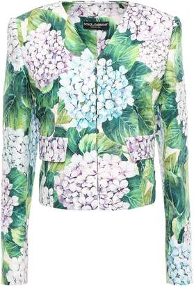 Dolce & Gabbana Floral-print Cotton And Silk-blend Jacquard Jacket