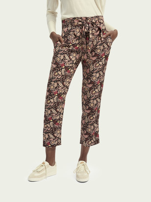 Scotch & Soda Belted mid-rise printed pants | Women