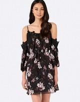 Forever New Lace Detail Bardot Skater Dress