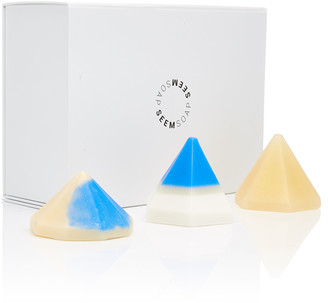 SEEM SOAP Hand-Made Color-Blocked Pyramid Soap Set