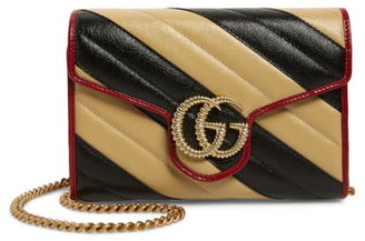 Gucci GG Marmont Matelasse Leather Wallet on Chain