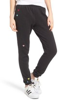 Wildfox Couture Women's Knox - Heart Embroidered Sweatpants