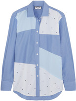 Paul & Joe Patchwork Striped Cotton Shirt - Blue