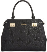 Calvin Klein Wow Leather Satchel
