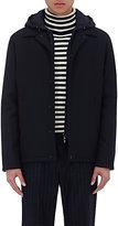 Moncler Men's Melton Snap-Front Jacket-NAVY