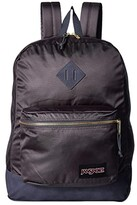JanSport Super FX (Deep Grey Gold Premium Poly) Backpack Bags