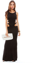 Boulee Florence Cut Out Maxi Dress in Black