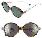Christian Dior Women's Umbrage 52Mm Round Sunglasses - Blue Havana/ Palladium