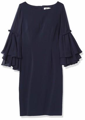 Eliza J Women's Size Shift Dress with Bell Sleeves