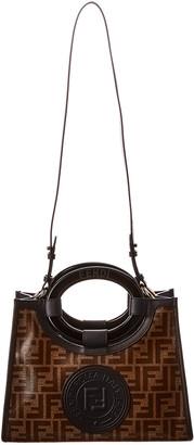 Fendi Runaway Small Ff Canvas & Leather Shopper Tote