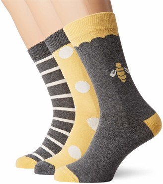 People Tree Peopletree Women's Bee Patterned Socks Set of 3 in Box
