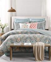 Echo Sterling Floral-Damask Full Reversible Comforter Set