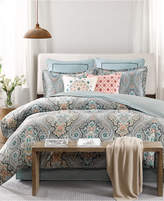 Echo Sterling Floral-Damask Queen Reversible Comforter Set