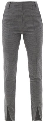Tibi Auguste Slit-cuff Checked-twill Suit Trousers - Grey