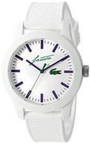 Lacoste Men's '12.12' Quartz Resin and Silicone Casual Watch, Color:White (Model: 2010861)