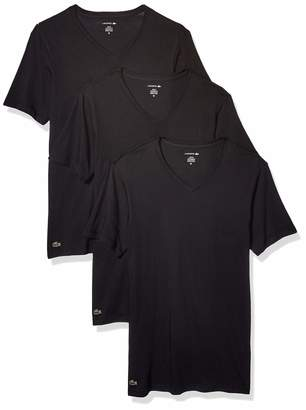 Lacoste Men's Cotton Stretch Slim Fit V Neck T-Shirt 3 Pack