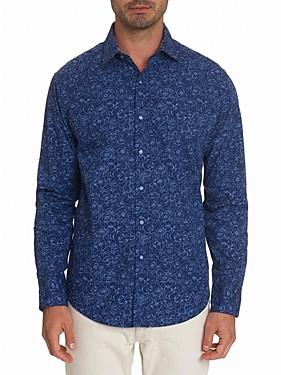 Robert Graham Overhaul Cotton Hibiscus Print Classic Fit Button-Up Shirt