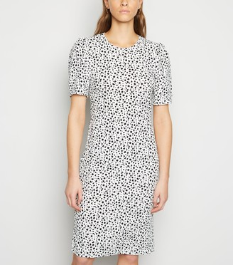 New Look Cameo Rose Animal Print Puff Sleeve Dress