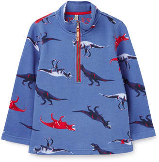 Joules Boy's Dale Dino Print Half-Zip Pullover, Size 3-6