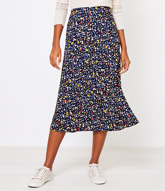 LOFT Heart Pull On Midi Skirt