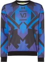 Versace Men's VJ Geo Print Crew Neck Sweatshirt