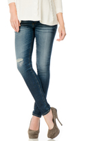 A Pea in the Pod AG Jeans The Legging Secret Fit Belly Destructed Maternity Jeans