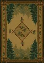 United Weavers of America Genesis Collection Forest Trail Heavyweight Heat Set Olefin Rug