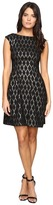 Vince Camuto Extended Cap Fit and Flare Dress