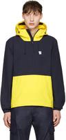 Noah Navy Hooded Popover Jacket