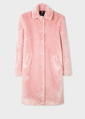 Paul Smith Women's Light Pink Faux Fur Coat