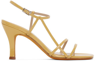 Maryam Nassir Zadeh Yellow Patent Irene Sandals