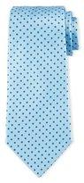 Armani Collezioni Neat Circle-Dot Print Tie, Light Blue