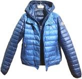 Moncler Hood Blue Synthetic Jackets & Coats