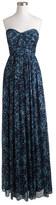 J.Crew Marbella long dress in watercolor silk chiffon