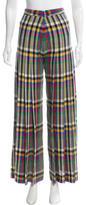 Marco De Vincenzo Fleece Wool Wide-Leg Pants
