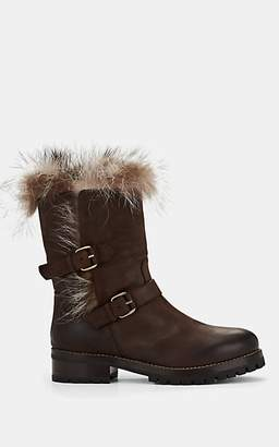 Sartore Women's Fur-Lined Leather Boots - Brown