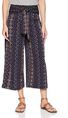 Moon River Women's Cropped Wide Leg Pants