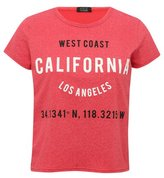 M&Co Red california crop top