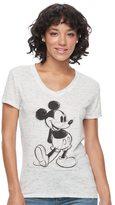 Disney Disney's Mickey Mouse Juniors' High-Low Graphic Tee