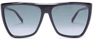 Givenchy Flat-top Acetate Sunglasses - Black