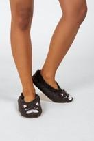 francesca's Fuzzy Knit Slipper Socks - Gray