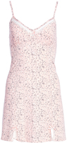 Peach Floral Lace-Trim Nightgown